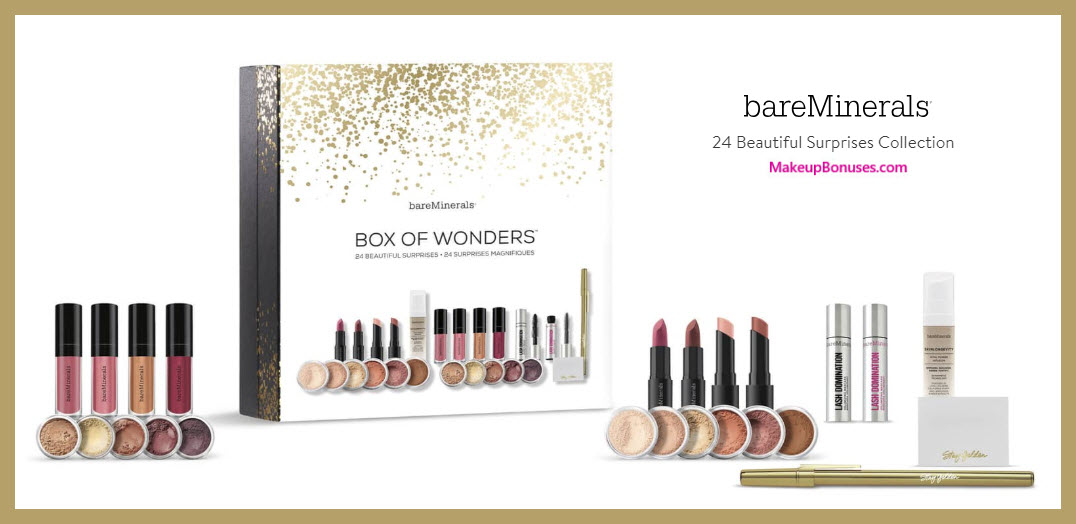 24 Beautiful Surprises Collection - MakeupBonuses.com #bareminerals #nordstrom