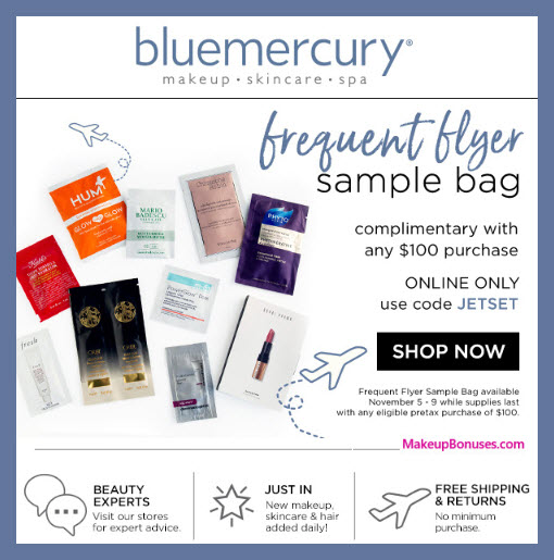 Receive a free 9-pc gift with $100 Multi-Brand purchase #bluemercury