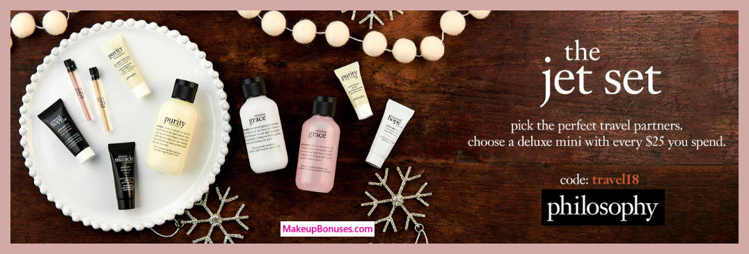 Receive a free 4-pc gift with $100 philosophy purchase #lovephilosophy