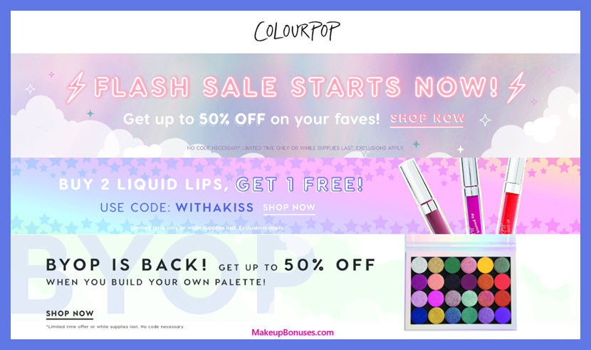 ColourPop Cosmetics Sale - MakeupBonuses.com