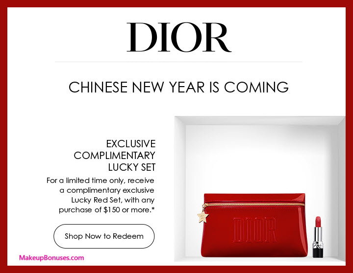 Dior Beauty FREE Lucky Gift w/ Purchase for Chinese New Year #Dior #DiorMakeup #MakeupBonuses