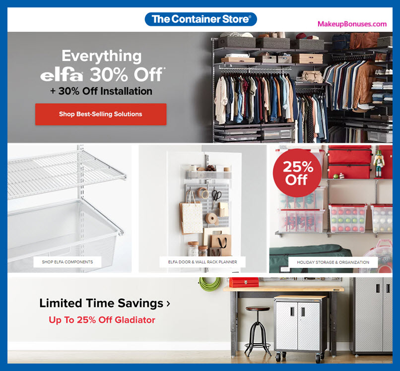 The Container Store Sale - MakeupBonuses.com