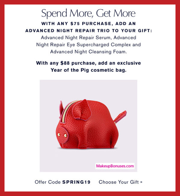 Estée Lauder Year of the Pig Free Gift #EsteeLauder #YearOfThePig #MakeupBonuses