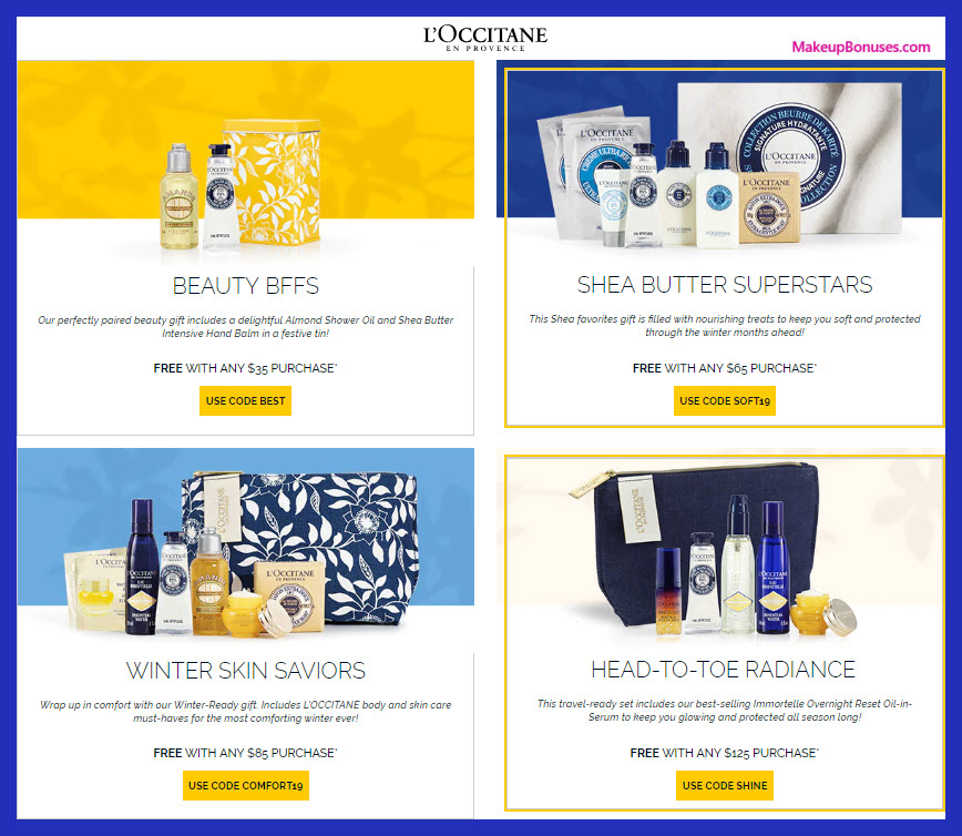 L'Occitane Sale - MakeupBonuses.com