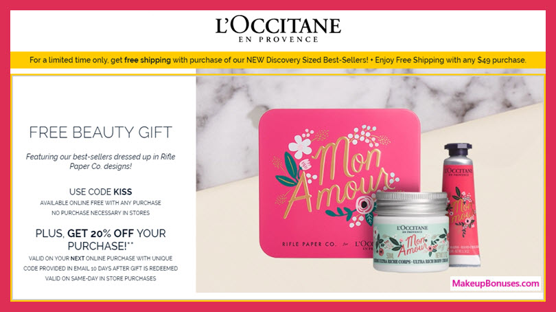 L'Occitane Free Sample - MakeupBonuses.com