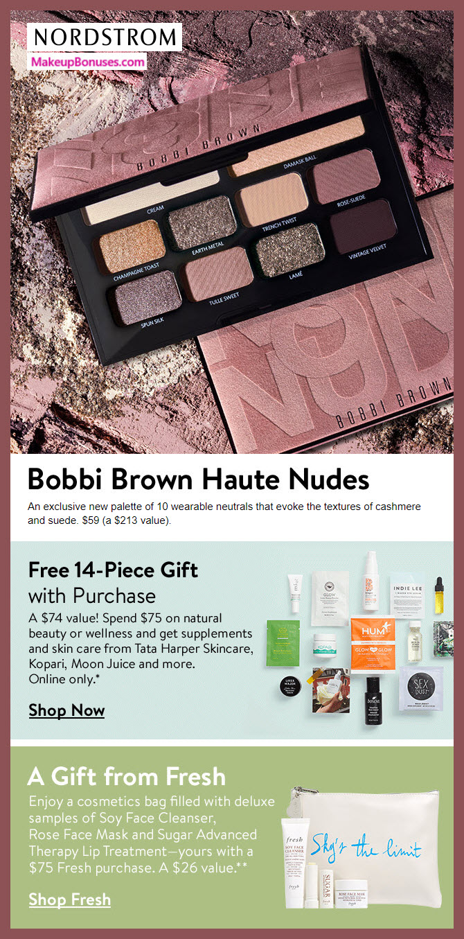 Nordstrom Natural Beauty and Wellness #MakeupBonuses