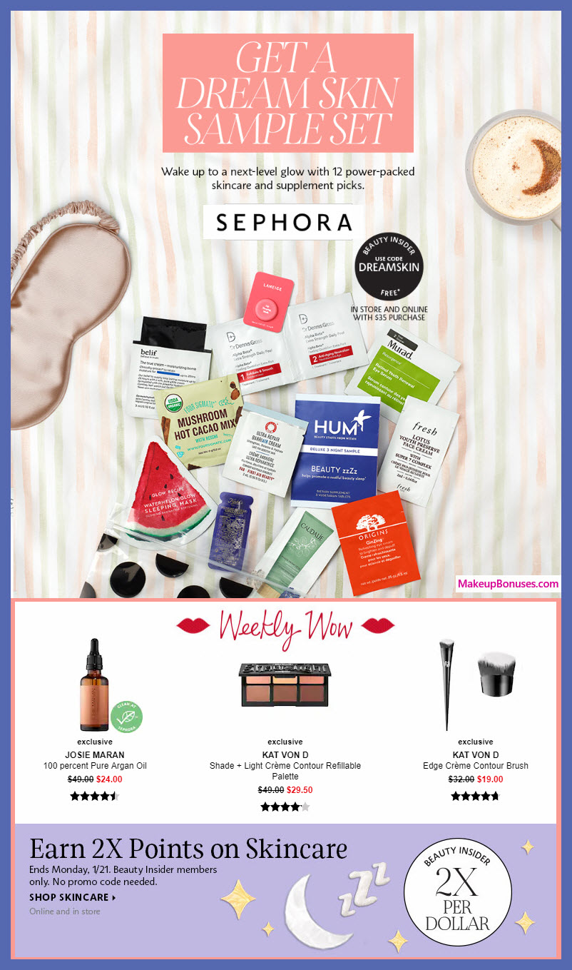 Sephora Beauty Promos - Weekly Wows, 2x Points, Free Bonus Gifts + MORE!!