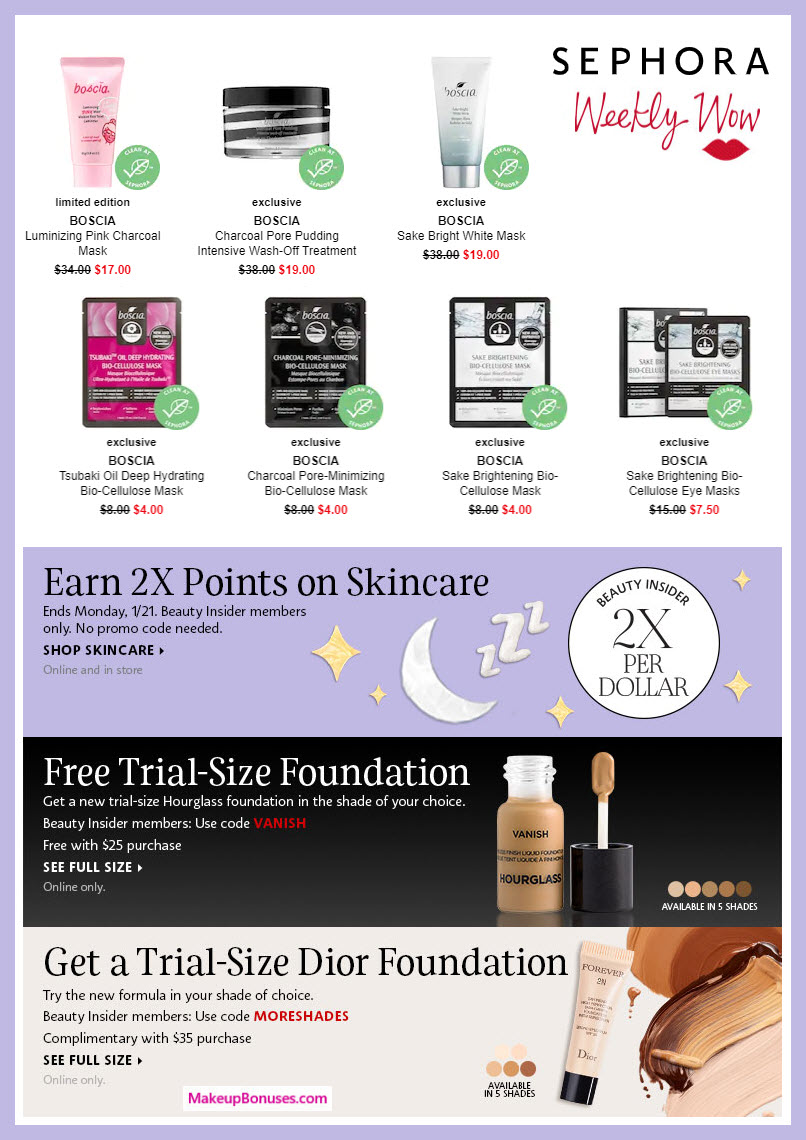 SEPHORA Weekly Wow Offers and New Beauty Insider Program Benefits for 2019! #sephora #beautyinsider #loyalty #makeupbonuses