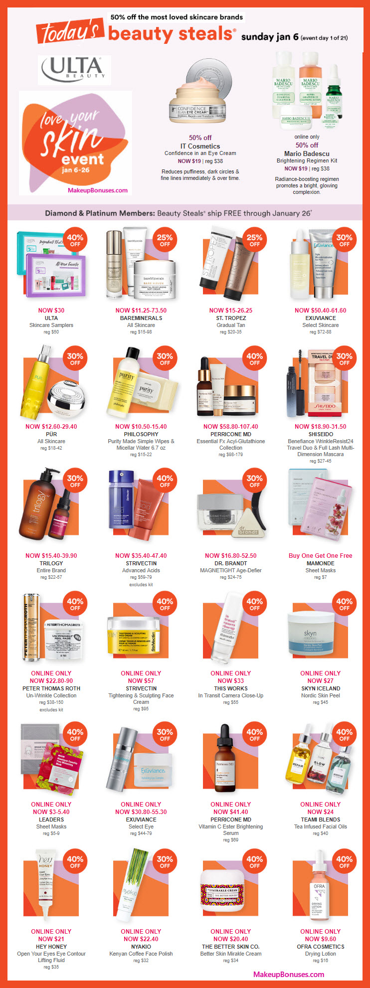 Ulta Love Your Skin Event 2019 - Up to 50% Off of Skincare! #UltaBeauty #MakeupBonuses #LoveYourSkin