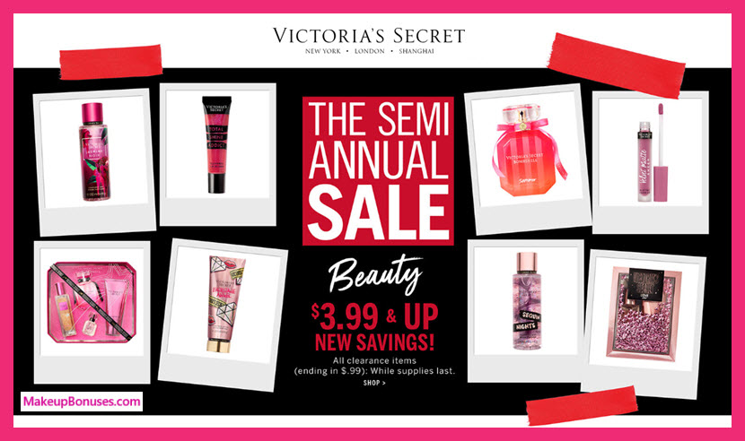 Victoria's Secret Sale - MakeupBonuses.com