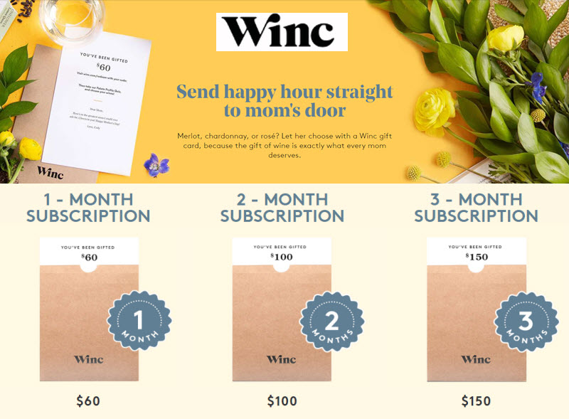 Mother's Day Wine Delivery Gift Winc Subscription