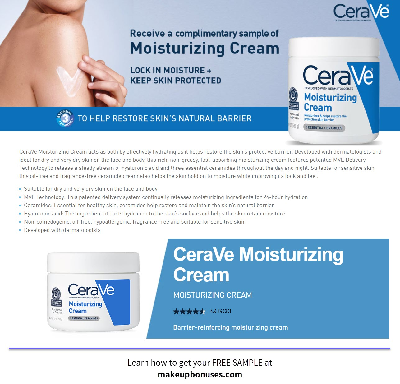 CeraVe Free Sample - MakeupBonuses.com
